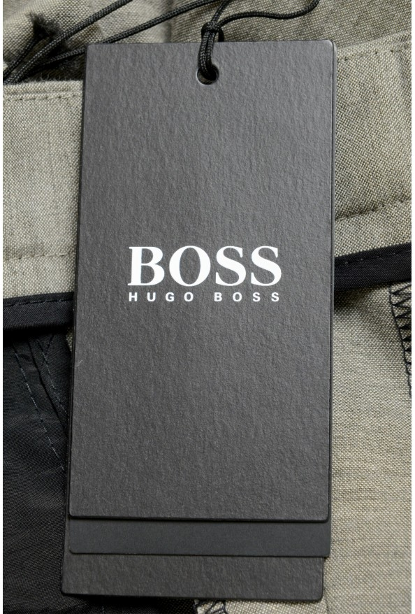 """Hugo Boss Men's """"Pitko2"""" Gray Wool Flat Front Casual Pants: Picture 4"""