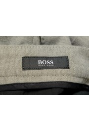 """Hugo Boss Men's """"Pitko2"""" Gray Wool Flat Front Casual Pants: Picture 5"""