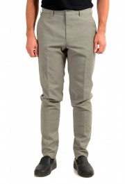 "Hugo Boss Men's ""Pitko2"" Gray Wool Flat Front Casual Pants"