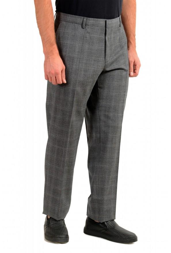 "Hugo Boss Men's ""Genesis4"" Gray Wool Flat Front Dress Pants: Picture 2"