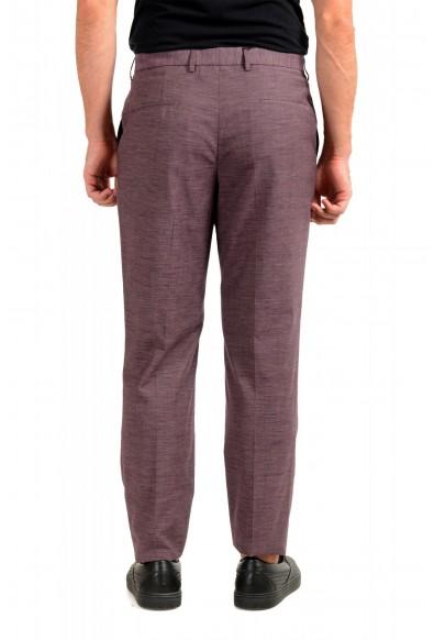 "Hugo Boss Men's ""Pitko2"" Purple Wool Flat Front Casual Pants: Picture 2"