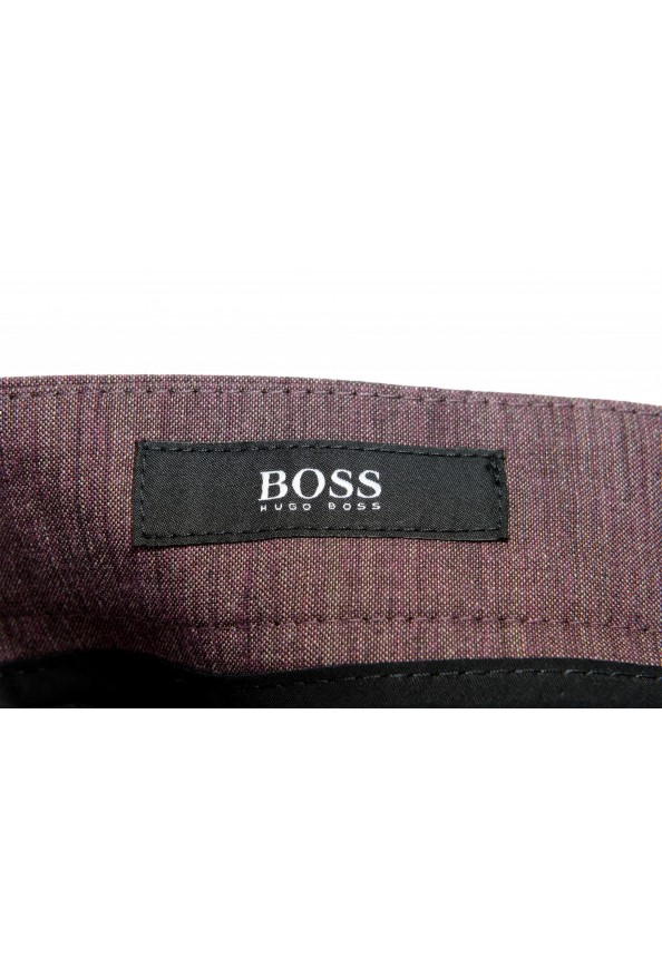 "Hugo Boss Men's ""Pitko2"" Purple Wool Flat Front Casual Pants: Picture 4"