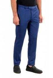 "Hugo Boss Men's ""Hesten182"" Extra Slim Fit Blue Wool Dress Pants : Picture 2"