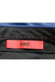"Hugo Boss Men's ""Hesten182"" Extra Slim Fit Blue Wool Dress Pants : Picture 5"