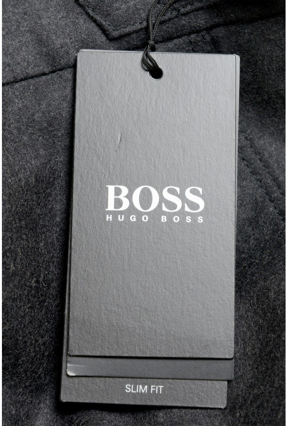 "Hugo Boss Men's ""Bardo"" Gray 100% Wool Casual Pants: Picture 4"