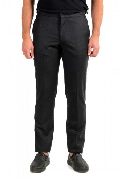 "Hugo Boss Men's ""Bardo"" Gray 100% Wool Casual Pants"