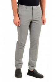"Hugo Boss Men's ""Hesten194"" Gray Wool Flat Front Dress Pants: Picture 2"