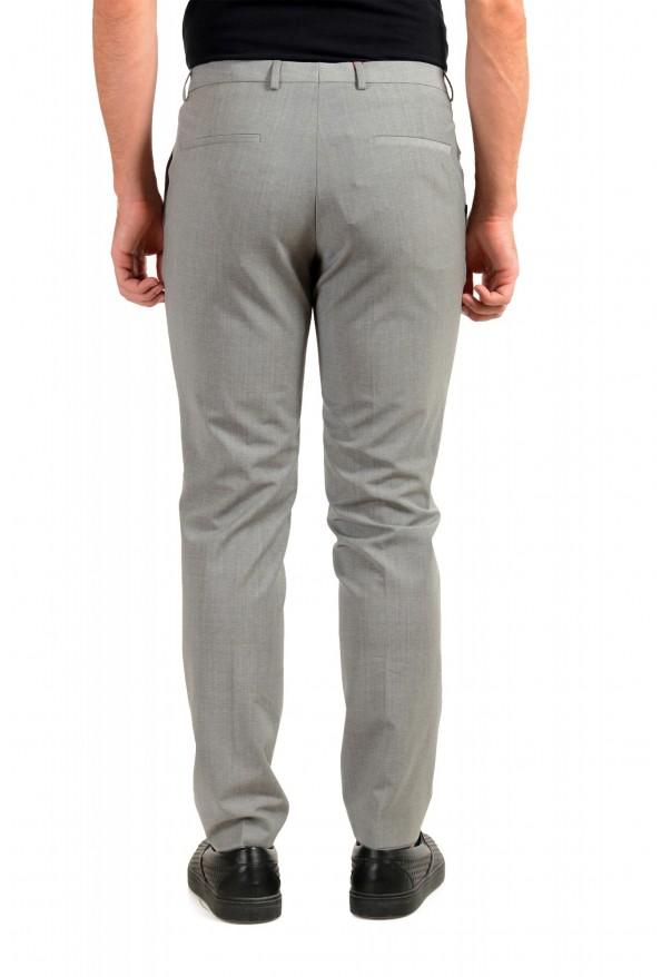 "Hugo Boss Men's ""Hesten194"" Gray Wool Flat Front Dress Pants: Picture 3"