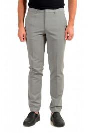 "Hugo Boss Men's ""Hesten194"" Gray Wool Flat Front Dress Pants"