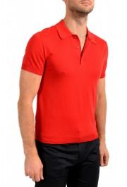 """Prada Men's """"UMA056"""" Bright Red Short Sleeve Polo Shirt: Picture 2"""