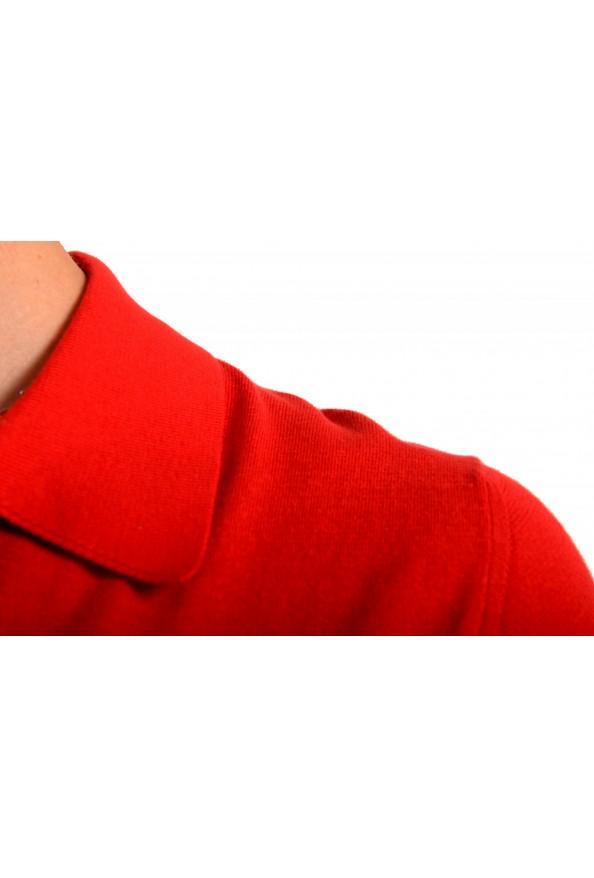 """Prada Men's """"UMA056"""" Bright Red Short Sleeve Polo Shirt: Picture 4"""