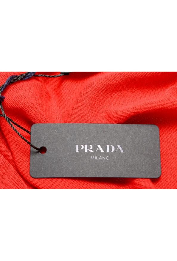 """Prada Men's """"UMA056"""" Bright Red Short Sleeve Polo Shirt: Picture 6"""