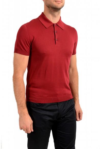 """Prada Men's """"UMA056"""" Burgundy Short Sleeve Polo Shirt: Picture 2"""