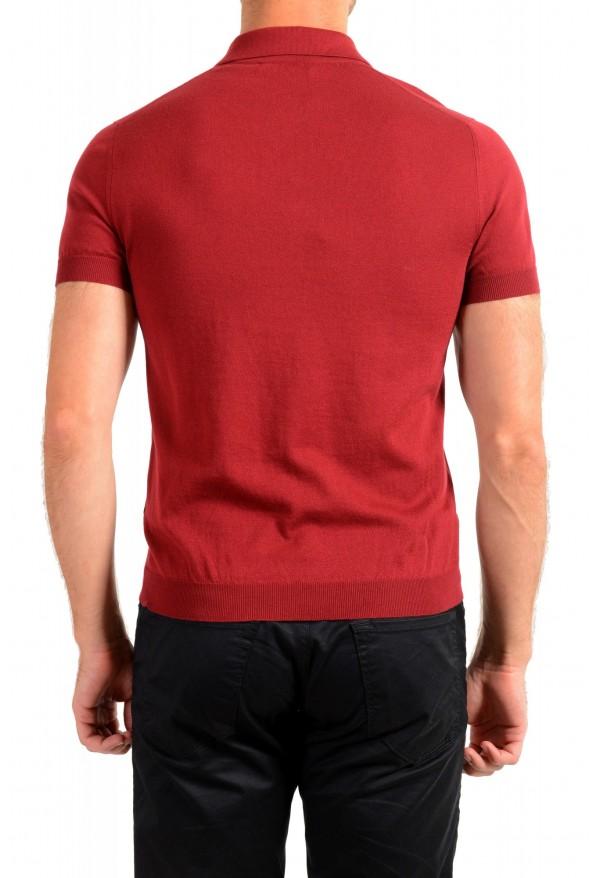 """Prada Men's """"UMA056"""" Burgundy Short Sleeve Polo Shirt: Picture 3"""