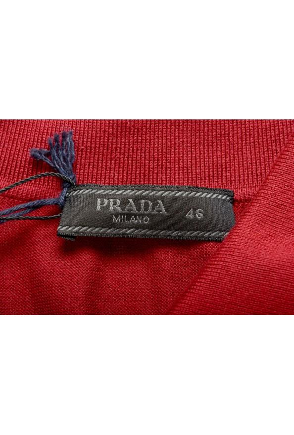 """Prada Men's """"UMA056"""" Burgundy Short Sleeve Polo Shirt: Picture 5"""