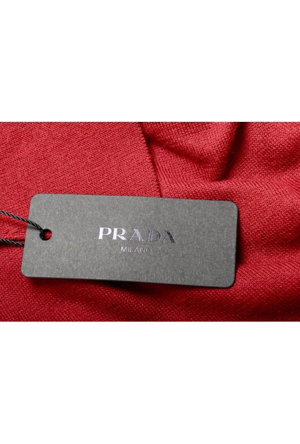 """Prada Men's """"UMA056"""" Burgundy Short Sleeve Polo Shirt: Picture 6"""