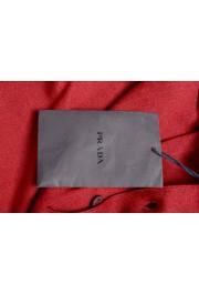 """Prada Men's """"UMA056"""" Burgundy Short Sleeve Polo Shirt: Picture 7"""