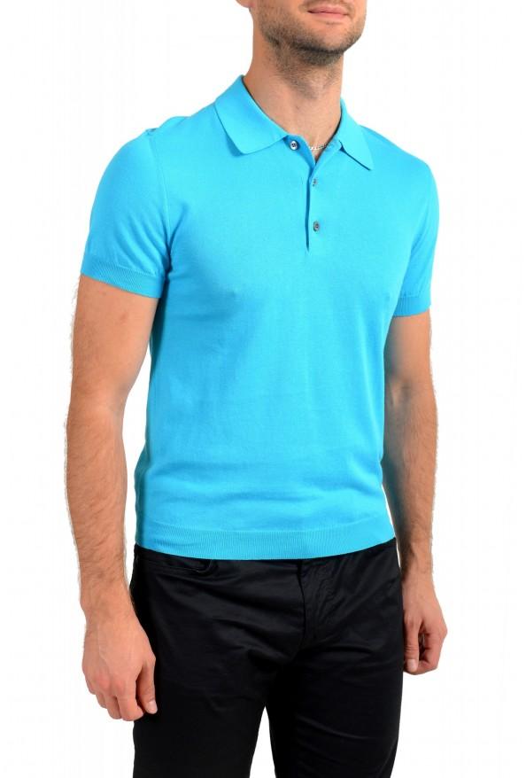 """Prada Men's """"UMA056"""" Bright Blue Short Sleeve Polo Shirt: Picture 2"""