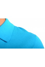 """Prada Men's """"UMA056"""" Bright Blue Short Sleeve Polo Shirt: Picture 4"""