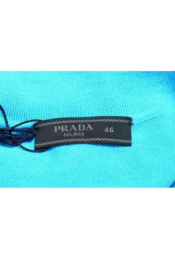 """Prada Men's """"UMA056"""" Bright Blue Short Sleeve Polo Shirt: Picture 5"""