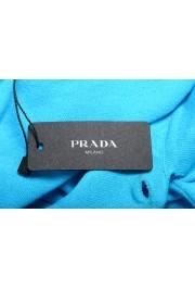 """Prada Men's """"UMA056"""" Bright Blue Short Sleeve Polo Shirt: Picture 6"""