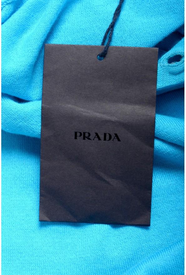 """Prada Men's """"UMA056"""" Bright Blue Short Sleeve Polo Shirt: Picture 7"""