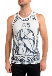 Dolce & Gabbana Men's Graphic Print Crewneck Tank Top