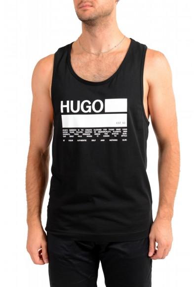 "Hugo Boss Men's ""BINALONG"" Black Logo Print Tank Top T-Shirt"