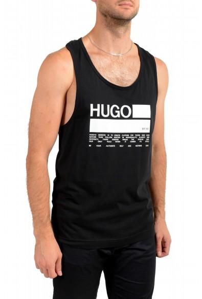 "Hugo Boss Men's ""BINALONG"" Black Logo Print Tank Top T-Shirt: Picture 2"