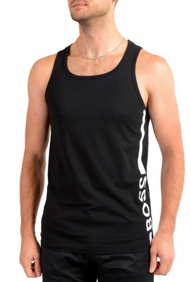 "Hugo Boss Men's ""Beach Tank Top"" Black Logo Print Tank Top T-Shirt"