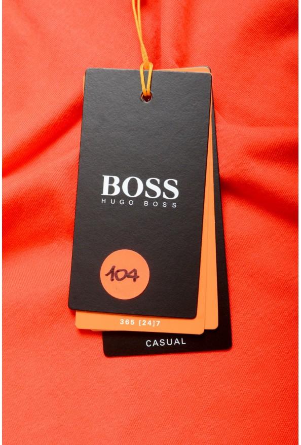 "Hugo Boss Men's ""Tokks"" Bright Orange Crewneck T-Shirt: Picture 5"
