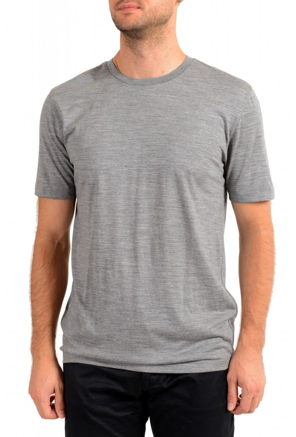 "Hugo Boss Men's ""Tiburt 190"" Gray 100% Wool Crewneck T-Shirt"