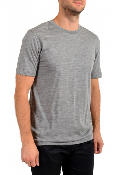 "Hugo Boss Men's ""Tiburt 190"" Gray 100% Wool Crewneck T-Shirt: Picture 2"