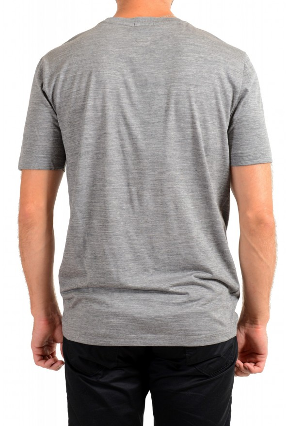 "Hugo Boss Men's ""Tiburt 190"" Gray 100% Wool Crewneck T-Shirt: Picture 3"