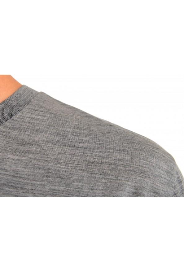 "Hugo Boss Men's ""Tiburt 190"" Gray 100% Wool Crewneck T-Shirt: Picture 4"