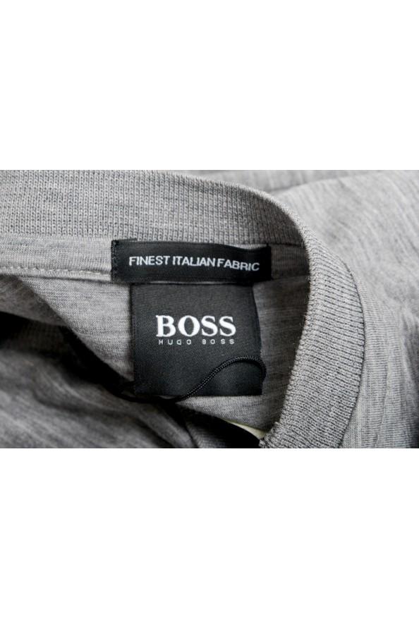 "Hugo Boss Men's ""Tiburt 190"" Gray 100% Wool Crewneck T-Shirt: Picture 5"