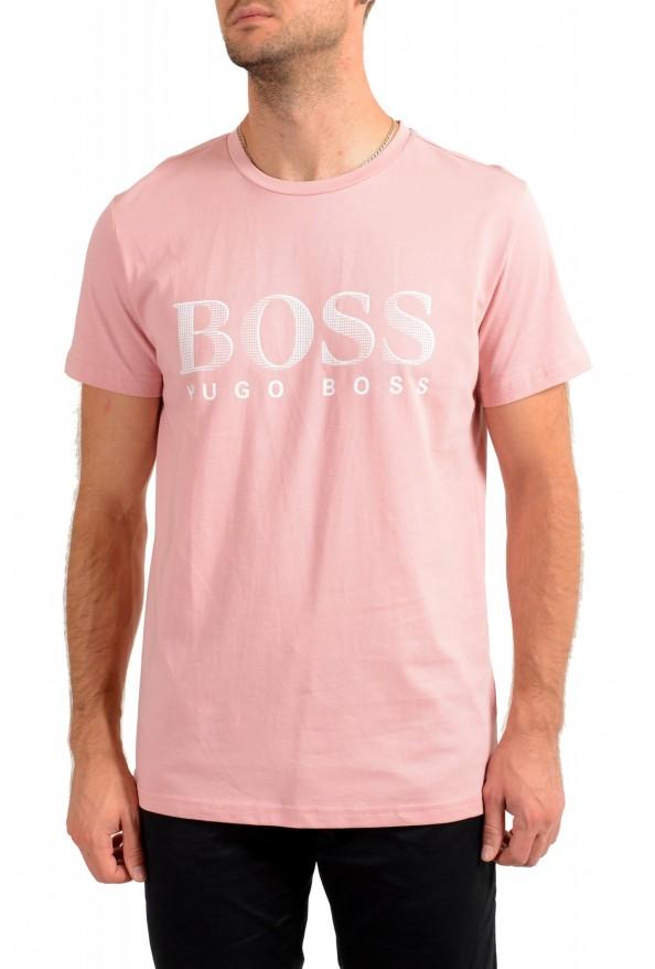 """Hugo Boss Men's """"T-Shirt RN"""" Pink Regular Fit Crewneck T-Shirt"""