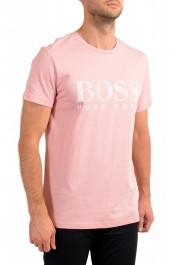"Hugo Boss Men's ""T-Shirt RN"" Pink Regular Fit Crewneck T-Shirt: Picture 2"