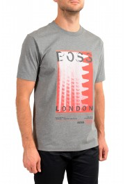 "Hugo Boss Men's ""Tiburt 231"" Gray Crewneck Graphic Print T-Shirt: Picture 2"