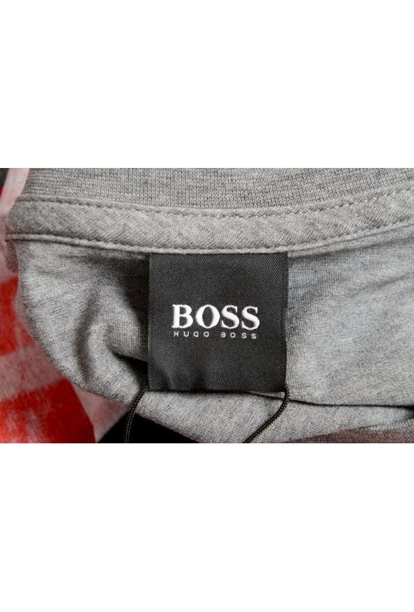 "Hugo Boss Men's ""Tiburt 231"" Gray Crewneck Graphic Print T-Shirt: Picture 5"