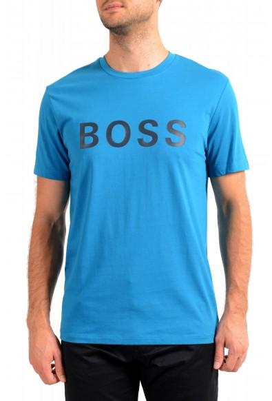"Hugo Boss Men's ""Tiburt 171 BB"" Blue Crewneck Graphic Print T-Shirt"