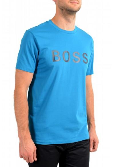 "Hugo Boss Men's ""Tiburt 171 BB"" Blue Crewneck Graphic Print T-Shirt: Picture 2"