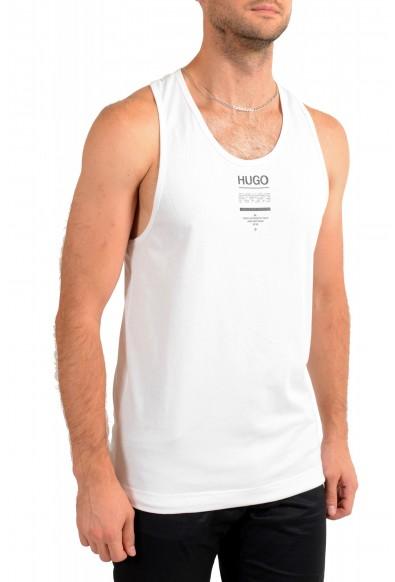 "Hugo Boss Men's ""TREPTOP"" White Logo Print Tank Top T-Shirt: Picture 2"