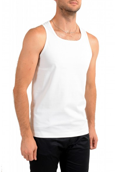 "Hugo Boss Men's ""Beach Tank Top"" White Logo Print Tank Top T-Shirt: Picture 2"