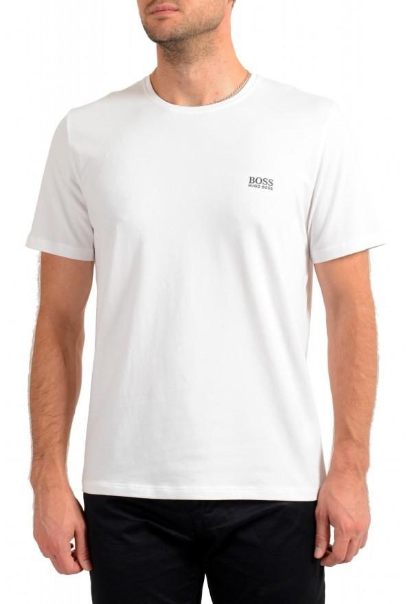 "Hugo Boss Men's ""Mix&Match"" White Stretch Crewneck T-Shirt"