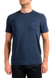 "Hugo Boss Men's ""Teetech 2"" Slim Fit Blue Stretch Crewneck T-Shirt"