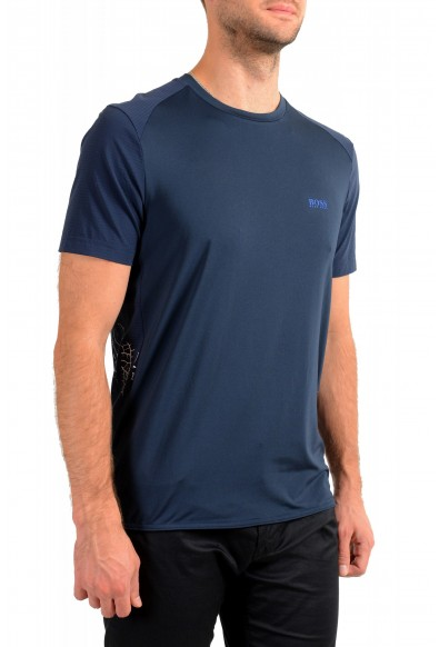 "Hugo Boss Men's ""Teetech 2"" Slim Fit Blue Stretch Crewneck T-Shirt: Picture 2"