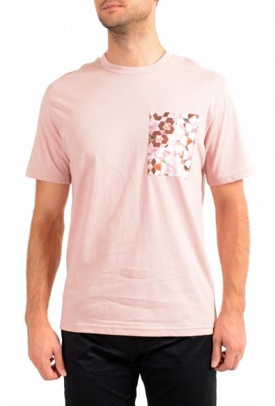 "Hugo Boss Men's ""TPoket"" Pink Relaxed Fit Crewneck T-Shirt"
