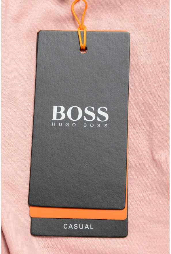 """Hugo Boss Men's """"TPoket"""" Pink Relaxed Fit Crewneck T-Shirt: Picture 6"""