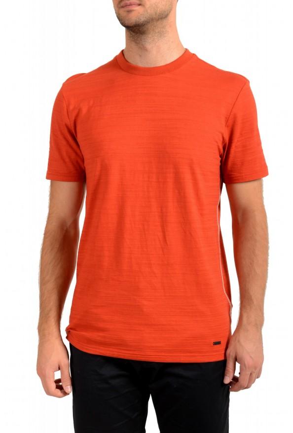 "Hugo Boss Men's ""Tikedo"" Bright Orange Crewneck T-Shirt"